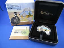2012 $1 Australian Map Shaped Coin Series - EMU - 1oz Silver Coin. Complete!!!