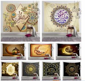 Ramadan Kareem Eid Mubarak Home Decor Celebration Tapestry Moon Star Wall Party