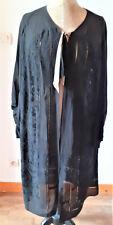 Vêtement ancien : Authentique manteau des années 1930  féminin, surbrodé+jours