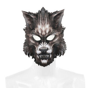 US!Halloween Masquerade Wolf Animal Mask Costume Night Party Dress Up