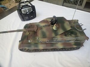 KING TIGER 1:16 TANK BY TAMIYA - STATIC VERSION BUT UPGRADED TO BASIC RC CONDITI