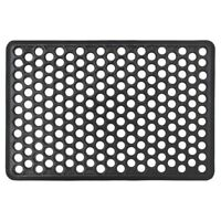 JVL Outdoor Honeycomb Rubber Ring Entrance Floor Door Mat, 40 x 60 cm
