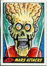 Mars Attacks Heritage Sketch Card By Lin Workman