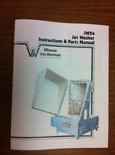 Winona Van Norman JW24 Jet Washer Instruction and Parts Manual