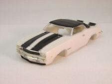 MODEL MOTORING WHITE W/BLACK STRIPES '69 CAMARO RS SHELL ~ NEW ~FITS AURORA TJET