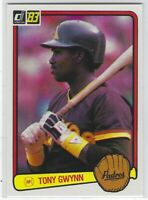 "1983 DONRUSS TONY GWYNN ""SET BREAK"" ROOKIE RC #598 SAN DIEGO PADRES L@@K"
