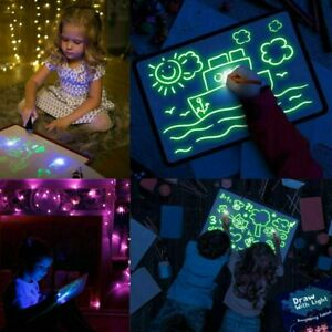 Light Writing Pads Kids Drawing Painting Board Educational Toy A5 Board Toys New