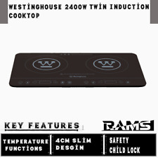 Westinghouse WHIC02K 2400w Black Twin Induction Cooktop