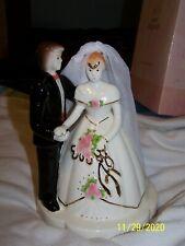 Dakin Josef Originals Bride And Groom Cake Topper Of Figurine In Box-