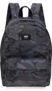 VANS NEW SKOOL BACKPACK BLACK/GRAY CHECK CHECKER CAMO CHECKERED SCHOOL BAG
