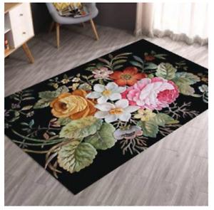 Vintage flowers / floral Non Slip Rug Carpet 80 x 160CM Elegant