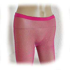 Fashion Ladies Crystal Fishnet Net Tights Sequin Size One Size (2754)