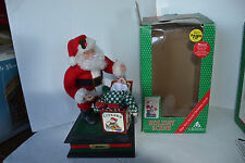 1993 Holiday Creations Musical Santa Claus W/Light Jack'N Box Works