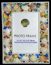 """Seashell Table Top Photo Picture Frame ~ 6"""" X 8"""" ~ With Front Glass Panel"""