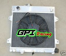new Aluminum radiator +fan for BMW E30 M10 316i 318i 1982-1991 Manual 90