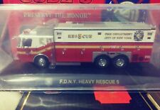 Code 3 FDNY New York E-One Saulsbury Heavy Rescue #5 1:64 Diecast 12691