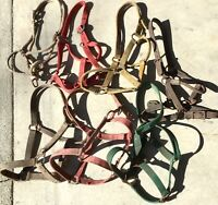 Lot of 7 Horse Halters - You Clean! Lot D