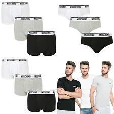 Moschino Men's Underwear Trunk Brief Low Rise T-Shirt Grey White Black Gift Box