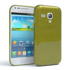 Funda protectora para Samsung Galaxy Mini s3 brushed cover móvil, funda verde