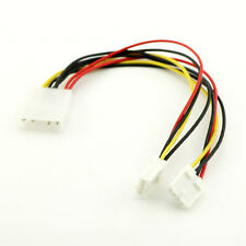"1pc 5.25"" 4 Pin Molex To 2 x 3.5"" Floppy Drive FDD Power Splitter Adapter Cable"