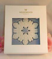 New Wedgwood White &  Blue Jasperware Pierced Snowflake Ornament 2014