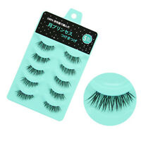 NEW L-8 Japan 5 pairs Handmade Short Black Cross  False eyelashes Diamond lash