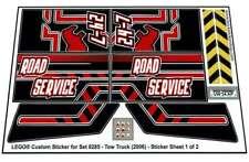 Precut Custom Replacement Stickers voor Lego Set 8285 - Tow Truck (2006)