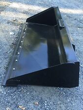 "New HD 72"" Skid Steer/Tractor 6' Bucket with Detachable Cutting Edge for Bobcat"