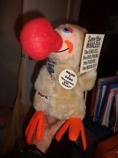 """1980 Fun World WALDO DODO BIRD Plush Stuffed Animal 10"""" All Tags Big Red Nose"""