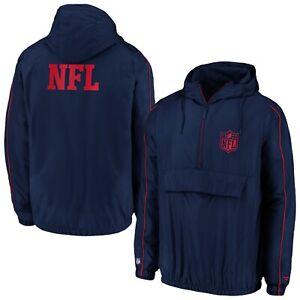 NFL Logo Shield Jacket Iconic Carnival 1/4 Zip Windbreaker Hoody Windbreaker