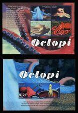 2017 Tuvalu, marine life, octopus, S/sheet + sheet, MNH