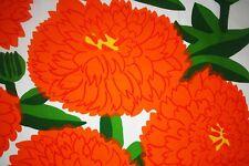 "Marimekko  ""PRIMAVERA""  new thick cotton fabric size 78cm x 150cm orange color"