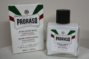 Proraso After Shave White Balm Sensitive Skin Green Tea Oatmeal 3.4fl oz