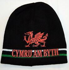 """""""Cymru Am Byth"""" WELSH DRAGON design BEANIE/ SKI HAT, Wales,"""