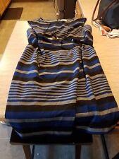Womens Calvin Klein Dress Blue and Grey Stripe Size 18W