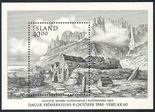 Iceland 1988 Stamp Day/Horses/Farm Buildings/Architecture/Transport m/s (n40349)