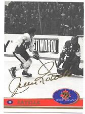 """1972 Team Canada Jean Ratelle Factory Authentic """"Fingerprint Swirl Autograph #66"""