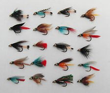 Quality Fly Fishing 20 Assorted Gold Bead Wet Flies For Trout Fishing