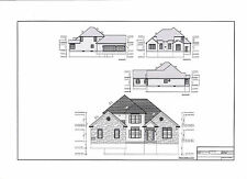 Full Set of two story 4 bedroom house plans 2,819 sq ft