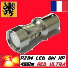 2 x P21W BA15S LED 400Lm 18SMD ROUGE 12V 6W ANTIB PEUGEOT 3008 308 C4 STOP 208