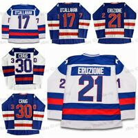 Mike Eruzione 21 Jack O'Callahan17 Jim Craig30 Miracle On Ice Team hockey jersey