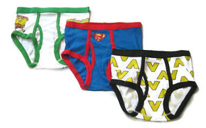PACK OF 3  Boys Brief size 6 (5y-7y) SPONGEBOB SUPERMAN #6-7