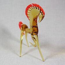 Horse Figurine Blown glass Lampwork Handmade Vintage