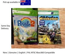 Xbox 360 game x 2 : Kinect Wreckateer Full Game Download Card with Peggle2 !