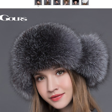 New Pom Fur Hat Beanie Winter Raccoon Women Cap Knit Real Wool Ball Knitted