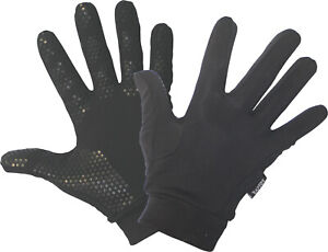 Running/Jogging/Hiking/Walking/Cycling Liner Gloves with Silicon Grip. 6yrs - XL