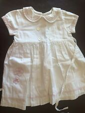 Two Turtle Doves By Sweet Potatoes Linen Sailer Dress - Size 2T