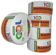 5x Barnier barnierband Pvc Cinta adhesiva Cinta limpieza 50mm x 33m blanco