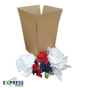 BUILD A BOX - 5kg - Cleaning Rags Wipers Wiping Cloths SELECT YOUR MIX OF GRADES