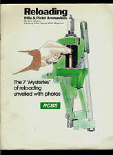 RCBS Rock Chucker Ammunition Reloading Press Pictorial Step By Step Brochure